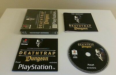 DEATHTRAP DUNGEON, PS1 MINT complete game (Sony PlayStation One, PAL)