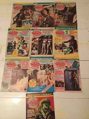 Dr Who weekly issues 21 to 30  March to Oct 1980