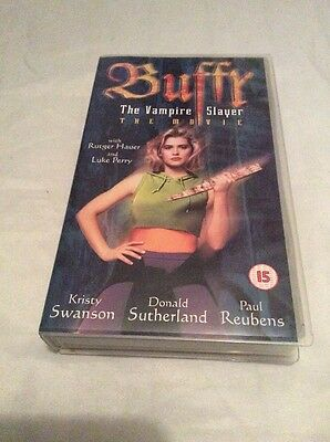 Buffy The Vampire Slayer The Movie VHS Video Cassette Kirsty Swanson Luke Perry