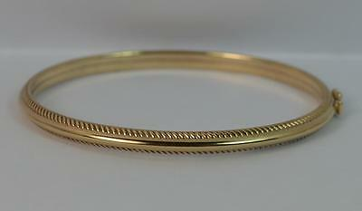 Lovely 9 Carat Yellow Gold 5mm Thick Bangle p1001