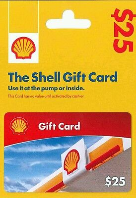 $25 Shell Gift Card (Brand New/No Expiration )