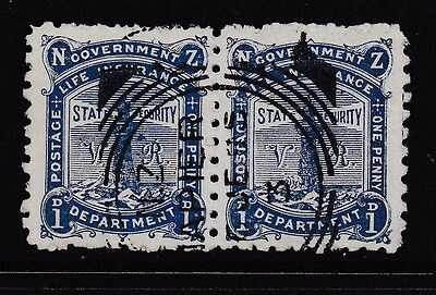 New Zealand 1893 Life Insurance with VR Fine used