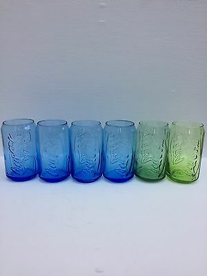 """Coca Cola X 6 Can Shape Collectable Glasses 5"""""""