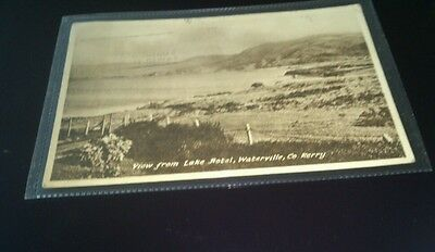 Old postcard view from lake hotel waterville co kerry posted 1950 publ h rosehil