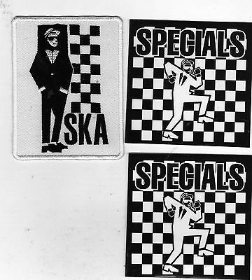 Ska 2 Tone Iron On Patch & Official Specials Vinyl Stickers