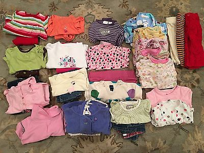 Girls Clothes 12 months LOT 13 Outfits, 5 PJ's and More