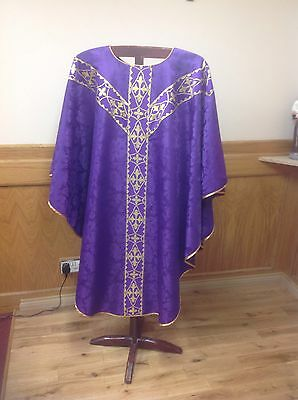 Violet Chasuble Vestment And Stole
