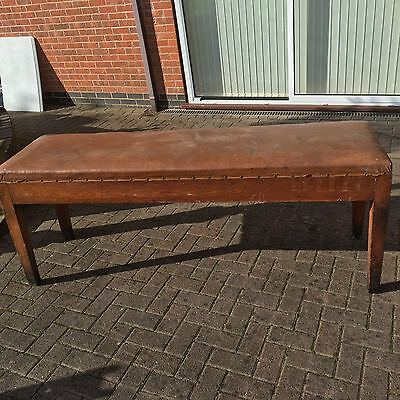 Antique Bench Seat old seat waiting room seat shop display shabby chic