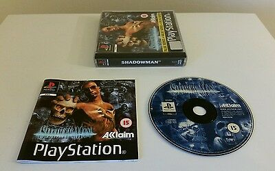 SHADOWMAN, PS1 game with manual. (Playstation One, PAL)