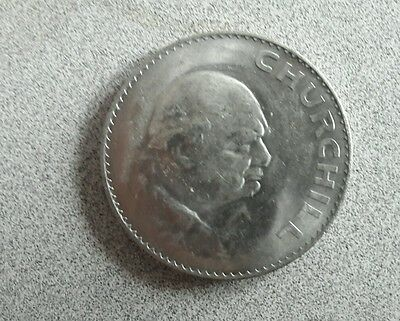 One Crown coin UK 1965 Churchill