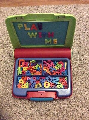 ELC Childrens Magnetic Letters and Numbers Board with Case