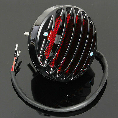 FEU ARRIERE NOIR GRILLE  STOP ECLAIRAGE PLAQUE light rear moto phare tail LAMP