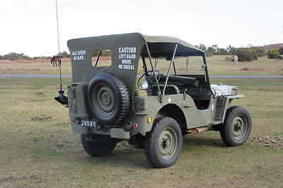 Willys Jeep Ford GPW Hotchkiss Canvas Summer Hood Verdeck Jeepverdeck with bag