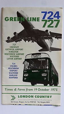 LONDON COUNTRY Green Line 724 & 727 from 1975