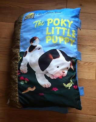** Rare The Pokey Little Puppy Pillow Cloth Book **
