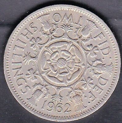 1962 Great Britain Two Shillings (Florin) Coin Vf