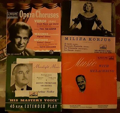 Collection of nine classical EP records