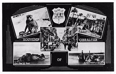 Postcard Vintage Souvenir Of Gibraltar Multiview