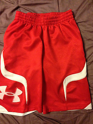 Under Armour Youth Athletic Shorts Youth Medium Red