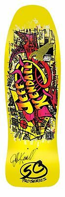 Santa Cruz Jeff Kendall AUTOGRAPHED GRAFFITI Skateboard Deck YELLOW