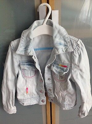 Pale embroidered girls denim jacket 3-4 years by Butterfly