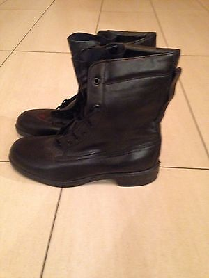Black Military Flying Boots Size 10 Large