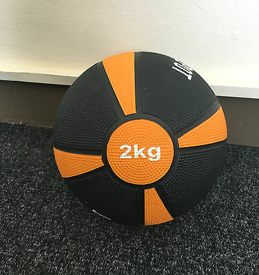 New Rubber 2KG Medicine Ball Weight Training Fitness Muscle Exercise