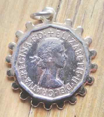 3d penny bit coin in neckless clasp