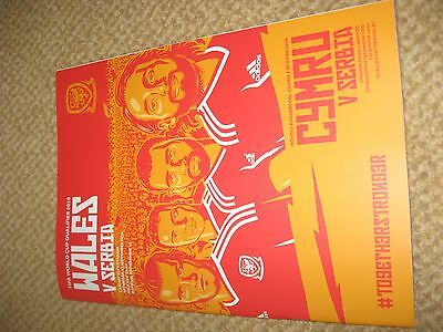 Wales v Serbia World Cup qualifier 2016 programme