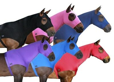 CARIBU  Lycra Slinky Show Horse  Hood. Neck Zipper, Belly Surcingle, Multi Sizes