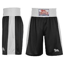Lonsdale Black/White Polyester Boxing Shorts -XL -BNWT - Only £5!