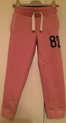 Girls Next Age 5 (4-5 Years) Pink Cuffed Jogging Bottoms- Excellent Condition