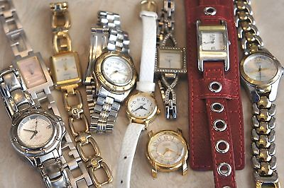 Lot of 8 Guess Variety of Men's & Women's Modern Watches-Large Lot!