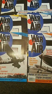 War in the air Magazines x 6  issues 2,3,4,5,7,& 8 1939-45
