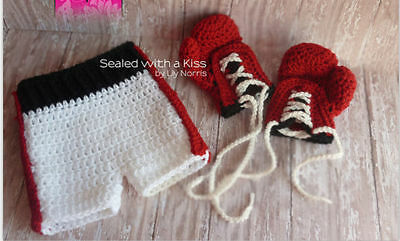 2 PC NEW Crochet Baby Costume Newborn Knitted Photography Prop 3-9M Y0