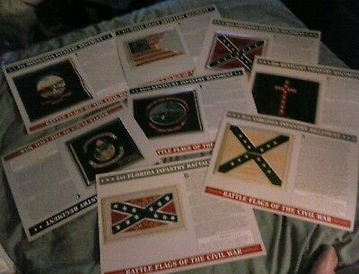 """8 """"RARE"""" Battle Flags of The Civil War Willabee  Ward patches to choose from"""