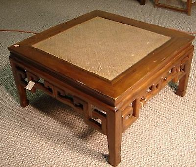 Antique Chinese Rattan Coffee Table