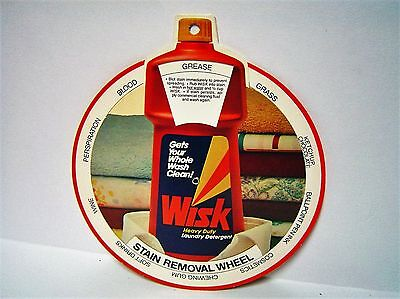 Vintage WISK Heavy Duty Laundry Detergent Stain Removal Wheel Advertising Soap