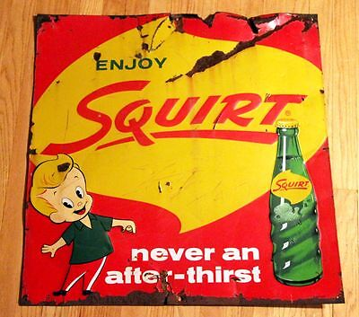 Vintage Squirt Soda Store Sign 50's 1950s