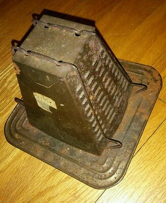 Antique/Vintage Bromwell Toaster #2 Pyramid 2 slice for Stove Top or Camp Fire.
