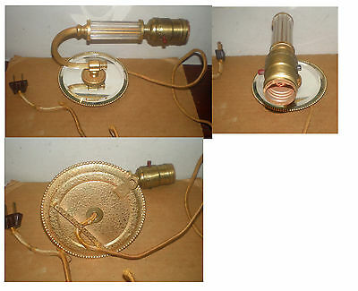 Vintage Art Deco  Mirrored & Glass  Wall Sconce