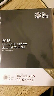 Royal Mint 2016 United Kingdom Annual Bu Coin Set New And Sealed