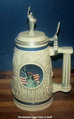 AMERICA THE BEAUTIFUL Stein! Statue of Liberty~Twin Towers - New York City!