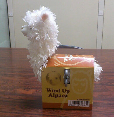 White Wind up running alpaca toy ALPACA  - Great for Christmas - Collectable!