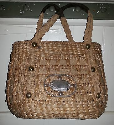 Unusual Wicker Straw Bag. Tatty Lining - outer really good. Perfect on Stage