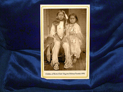 Children of Kiowa Chief Ongotoy 1892 Cabinet Card Photograph Vintage CDV