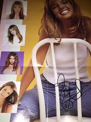 Britney Spears Baby One More Tome Poster Signed Autograph