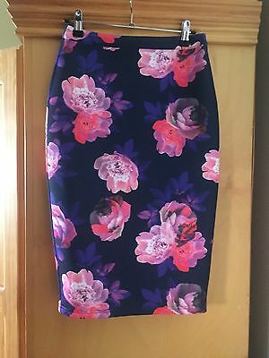 Paint It Red Floral Skirt Size XS