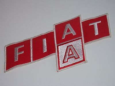 Very Rare Vintage Large & Different Fiat Embroidered Emblem Patch!