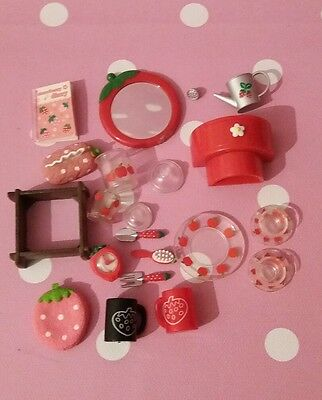 Lot of Strawberry Apple Rement Blythe Pullip Barbie Sindy miniatures Pyrex
